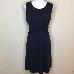 41 Hawthorn Jersey Knit Dress Sheath Stretchy Navy